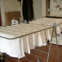 diapers drying
