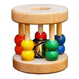 Papa Don's Toys Wooden Baby Rattle