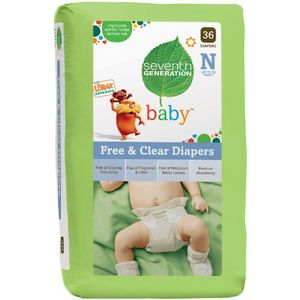 Seventh Generation Free &amp; Clear Newborn Diapers