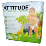 Attitude - Eco-Friendly Baby Diapers Size 5 (27+ lbs) - 22 Diaper(s)