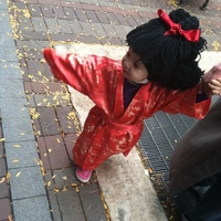 My little girl's first Halloween costume, 18 months, Chinese doll.