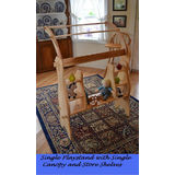 Elves and Angels Wooden Waldorf David's Single Playstand with Canopy