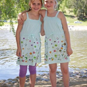 Dhana EcoKids - Soothing Sea Organic Smocked Dress