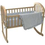 ABC 3 Piece Heavenly Soft Cradle Set - Blue