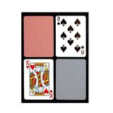 Copag Bridge Size Regular Index Playing Cards (Blue Red Export Setup)