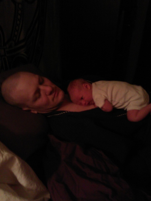 My husband and daughter, Arwen resting.
