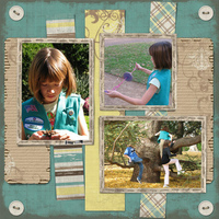 When I get a chance and am in the mood, I love to digital scrapbook my pictures.