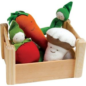 Image of: Organic Cotton Veggies in a Crate