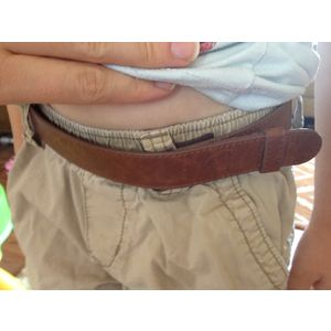 Myself Belts Brown Leather - Brown, Extra Large