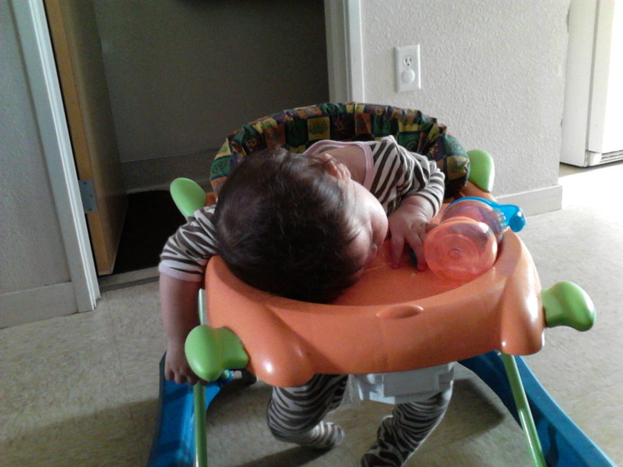 Someone decided nap time was going to be early that day LOL.