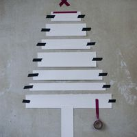 Paper and tape tree. Image from: http://www.apartmenttherapy.com/15-alternative-christmas-trees-181603