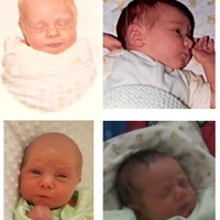 family baby pics L-R, Top to Bottom: dad, me, first boy, second boy