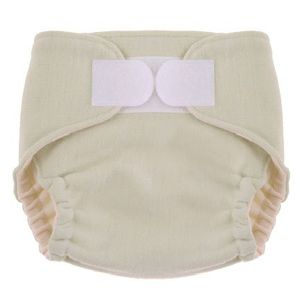 Swaddlebees Merino Wool Diaper Cover - Aplix Large Cream
