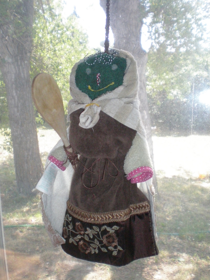 My good luck Kitchen Witch I made :)