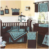 JoJo Designs Bella Turquoise 9 Piece Crib Set