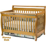Emily Crib - Honey Oak