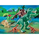 Playmobil T-rex With Velociraptors