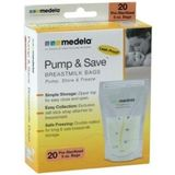 Medela Pump and Save Storage Bags- 20-count