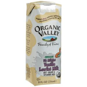 Organic Valley Vanilla Lowfat Milk, 8-Ounce Aseptic Carton (Pack of 12)
